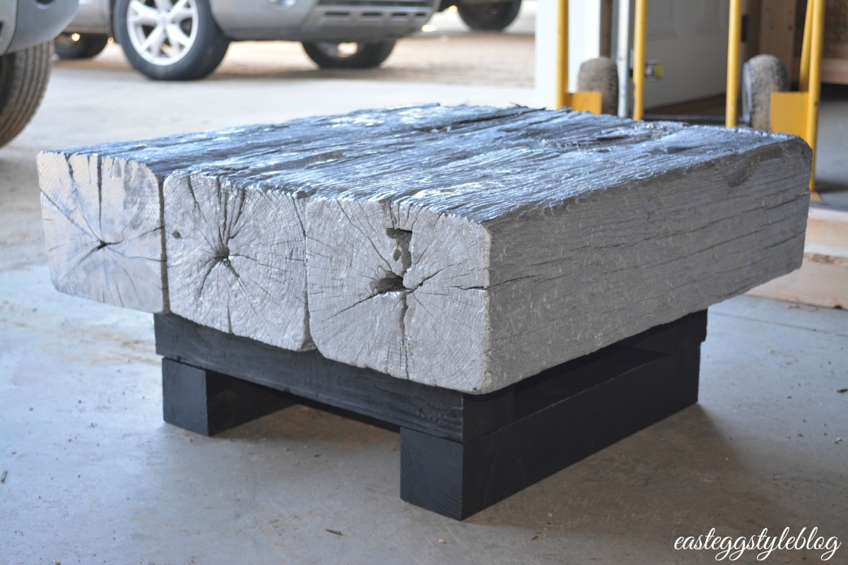 Railroad tie coffee table for Cool coffee tables built out of railroad ties