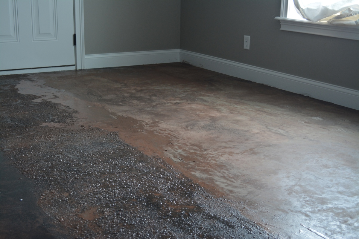 Stained Concrete Floors Tutorial - Part 1- Stripping