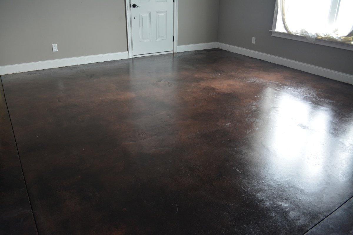 Stained Concrete Floors Tutorial - Part 2 - Applying Color and Sealer