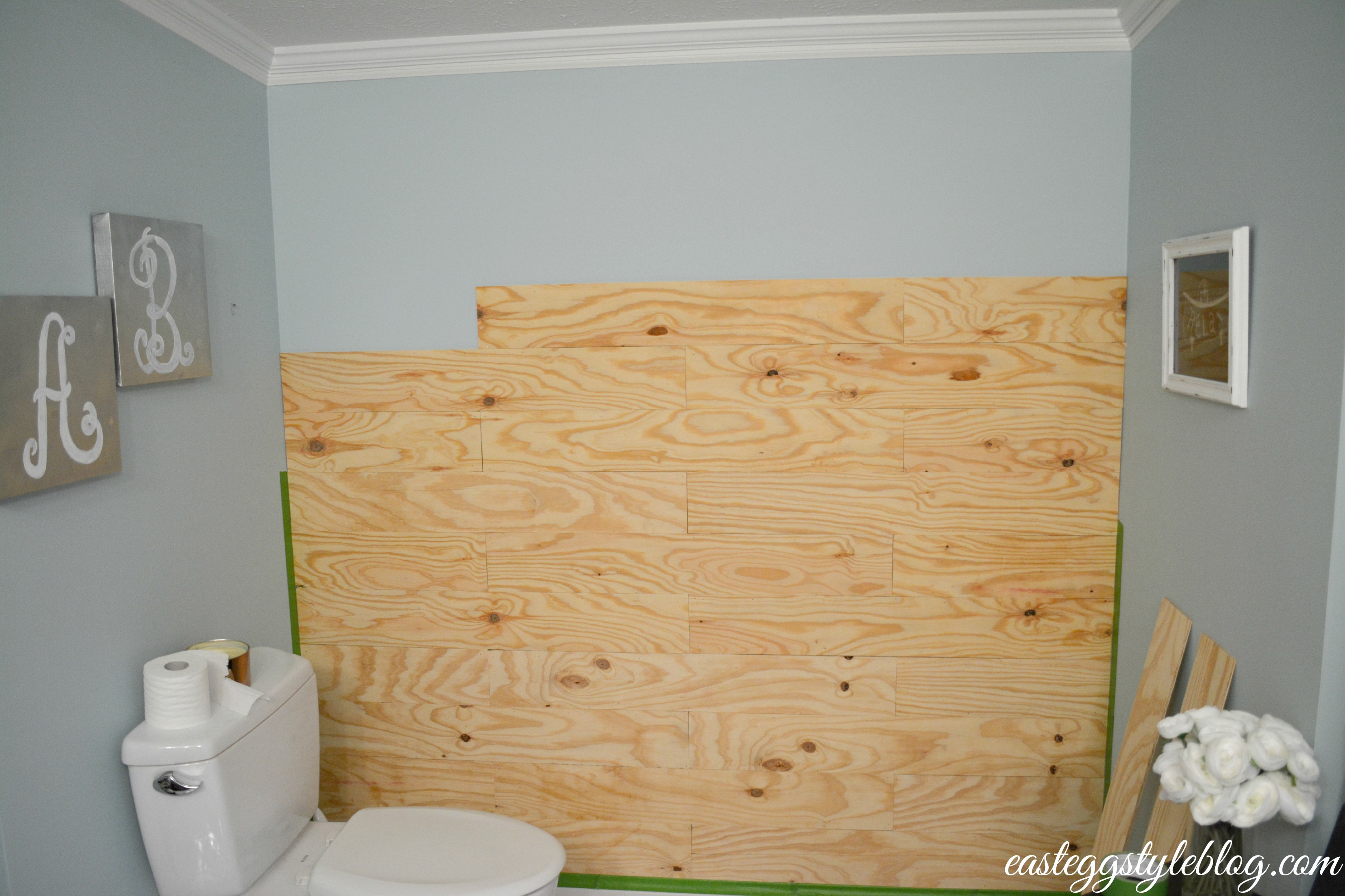 Diy plank wall for Plywood wall sheathing