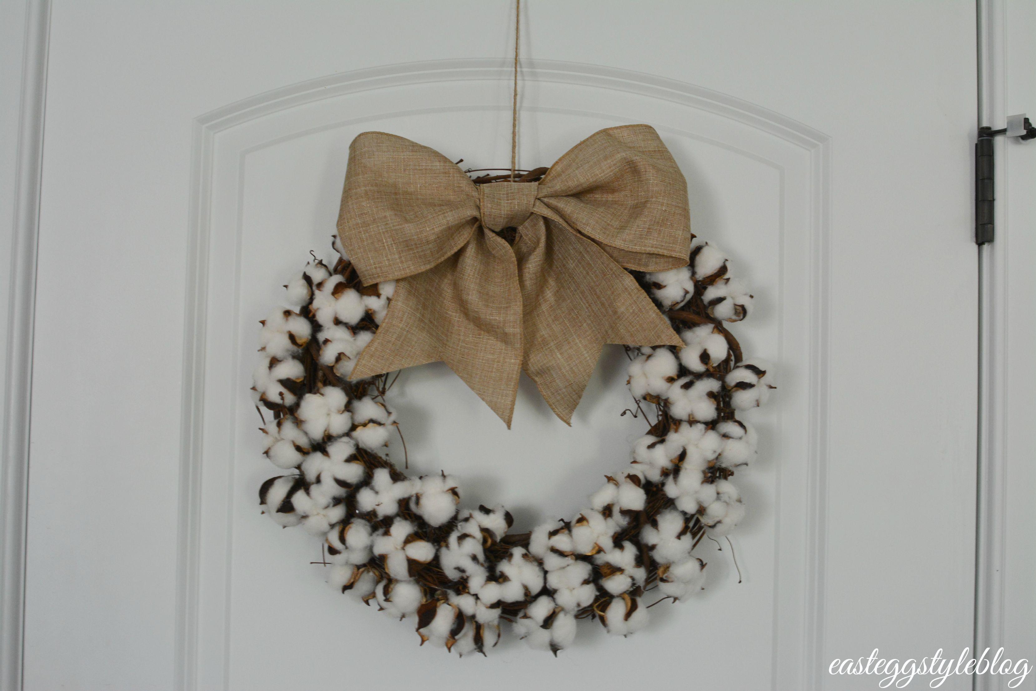 DIY Fall Cotton Wreath