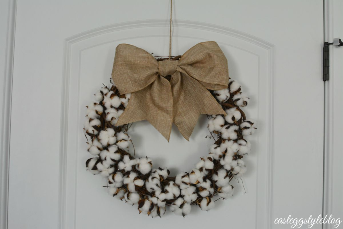 DIY Fall Cotton Wreath